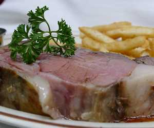 Prime rib and french fries
